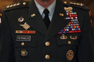 David Petraeus during a ceremony in Rome. REUTERS/Alessandro Bianchi