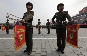 North Korean soldiers participate in a parade to commemorate the 65th anniversary of the founding of the Workers' Party of Korea in Pyongyang October 10, 2010. REUTERS/Petar Kujundzic