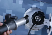 A special nozzle and valve for fueling hydro-cell vehicles are seen at an alternative energy facility that converts solar and wind energy into hydrogen at Joint Base Pearl Harbor Hickam in Honolulu, Hawaii July 19, 2012. REUTERS/Hugh Gentry