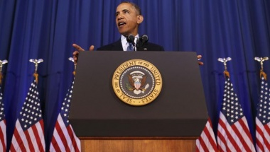President Barack Obama speaks about his administration's counterterrorism policy at the National Defense University at Ft. McNair in Washington, May 23, 2013. REUTERS/Larry Downing