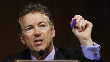 Senator Rand Paul (R-KY) speaks during a Senate homeland security and governmental affairs investigations subcommittee hearing on offshore profit shifting and the U.S. tax code related to Apple, on Capitol Hill in Washington, May 21, 2013. REUTERS/Jason Reed