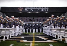 Graduating cadets stand in formation as they arrive for graduation ceremonies at the United States Military Academy at West Point, New York, May 25, 2013. REUTERS/Mike Segar