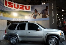 The 2004 five-passenger version of the Isuzu Ascender is on display at the 2003 New York International Auto Show on April 17, 2003. REUTERS/Shannon Stapleton/Files