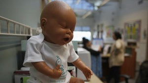 An infant doll is seen at the Women, Infants and Children (WIC) office inside a Salt Lake County health clinic in South Salt Lake City, Utah, October 2, 2013. REUTERS/Jim Urquhart/Files