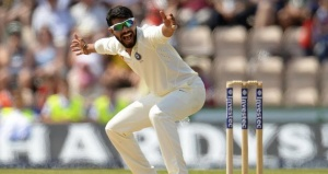 Ravindra Jadeja appeals unsuccessfully for a lbw dismissal during the third cricket test match against England at the Rose Bowl cricket ground in Southampton, England July 30, 2014. REUTERS/Philip Brown