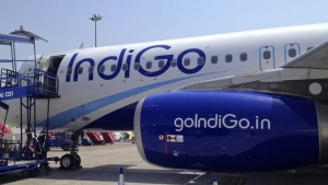 An IndiGo Airlines A320 aircraft is parked on the tarmac at Rajiv Gandhi International Airport in Hyderabad March 7, 2012. REUTERS/Vivek Prakash/Files