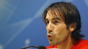 Robert Pires reacts during a news conference in Villarreal, April 6, 2009. REUTERS/Heino Kalis/Files