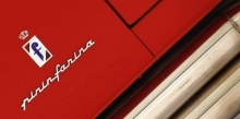 A Pininfarina logo is pictured at the Casa Enzo Ferrari museum during a media preview in Modena, northern Italy, March 9, 2012. REUTERS/Alessandro Bianchi/Files