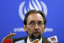 United Nations (U.N.) High Commissioner for Human Rights Zeid Ra'ad Al Hussein speaks during a news conference in Colombo February 9, 2016. REUTERS/Dinuka Liyanawatte