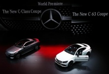 The Mercedes-Benz C-Class Coupe (L) and C63 Coupe cars are presented during the media day at the Frankfurt Motor Show (IAA) in Frankfurt, Germany, September 15, 2015. REUTERS/Ralph Orlowski