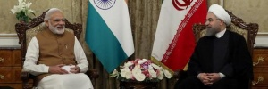Iran's President Hassan Rouhani (R) meets India's Prime Minister Narendra Modi in Tehran, Iran May 23, 2016. President.ir/Handout via REUTERS