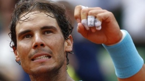 Tennis - French Open - Roland Garros - Rafael Nadal of Spain vs Facundo Bagnis of Argentina - Paris, France - 26/05/16. Nadal reacts. REUTERS/Pascal Rossignol/Files