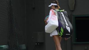 Britain Tennis - Wimbledon - All England Lawn Tennis & Croquet Club, Wimbledon, England - 30/6/16 Spain's Garbine Muguruza walks off court after losing her match against Slovakia's Jana Cepelova REUTERS/Tony O'Brien