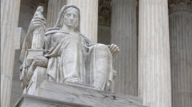 The Contemplation of Justice statue is seen outside of the Supreme Court of the United States in Washington, D.C., U.S., August 31, 2020. REUTERS/Andrew Kelly