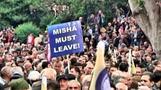 Georgian opposition demands President Saakashvili's resignation