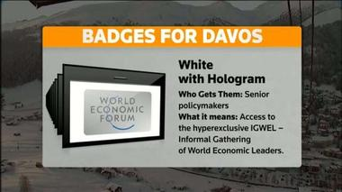 Davos: What the badges mean