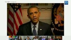 Obama answers drone question via Google+