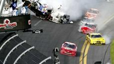 Ten-car crash at Daytona sends debris into crowd