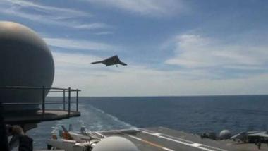 Sea-based attack drone flies into history with first carrier launch