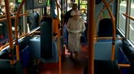 Queen Elizabeth takes the bus in Cambridge