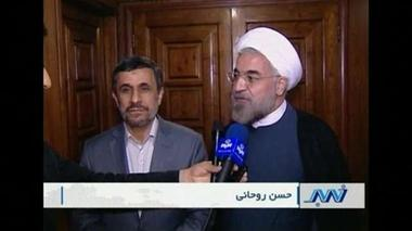 Iran's newly-elected President meets with outgoing Ahmadinejad