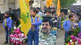 Hundreds attend funeral for slain Hezbollah commander