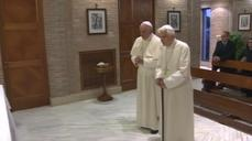 Popes from World Cup teams show no sign of rivalry