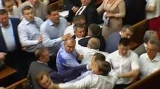 Brawl in Ukraine parliament