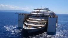 Drone video shows final voyage of Concordia