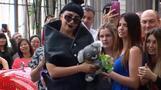 Lady Gaga meets fans in Perth hotel lobby