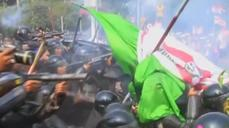 Tear gas fired at protesters ahead of court verdict on election