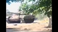 Ukraine releases video of purported Russian tank in Novoazovsk