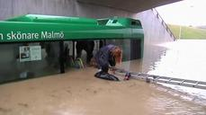 Flood chaos in southern Sweden