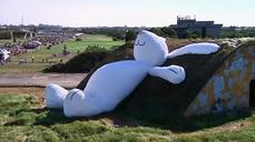 Giant rabbit just laying about in Taiwan