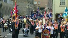With drums and flutes, loyalists march in Scotland to keep United Kingdom intact