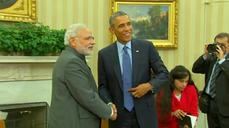 Once banned from US, Modi meets Obama at White House
