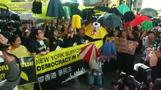 NY protesters support Hong Kong movement
