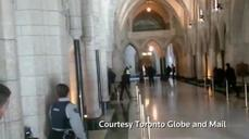 Gunfire inside Canadian parliament building