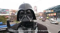 """Darth Vader"" campaigns for Ukrainian parliament"