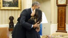"Obama ""not at all concerned"" about hugging cured Ebola patient: White House"