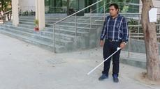 Vibrating 'SmartCane' device helps blind people avoid obstacles
