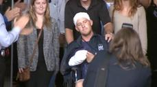 NYC hatchet attack victim goes home