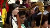 Mariachis celebrate patron saint