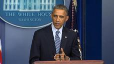 Obama urges people of Ferguson to react peacefully