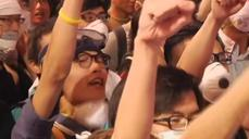 "Hong Kong protesters: ""We want real democracy"""
