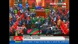 Scuffles break out in Kenya's parliament