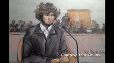 Accused Boston bomber faces victims, supporters in court