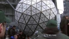 Times Square ball gets finishing touches for New Year's Eve