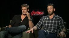 A Minute With: Hemsworth, Evans get playful with 'Avengers'