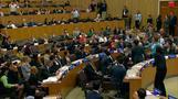 国連のパネル討論会で北朝鮮外交官が不規則発言(字幕・30日)